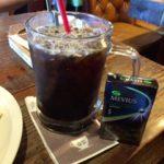 青空とアイスコーヒーとパフェと