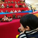 ひな人形と男の子と