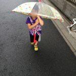 傘とカッパと