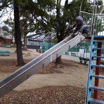 元渕江公園と滑り台と
