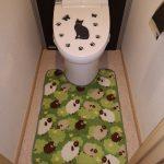 トイレマット変更と羊と
