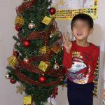 クリスマスツリーと点灯と