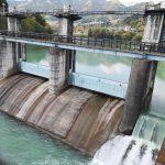 神水ダムと金毘羅橋と